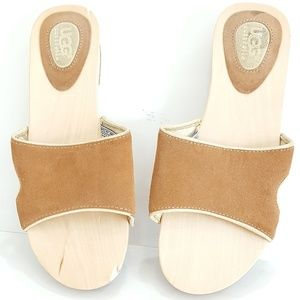UGG Australia Womens Open Toe Wooden Wedge Sandals